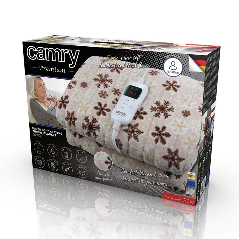 Elektryczny koc nakładany Camry 7430