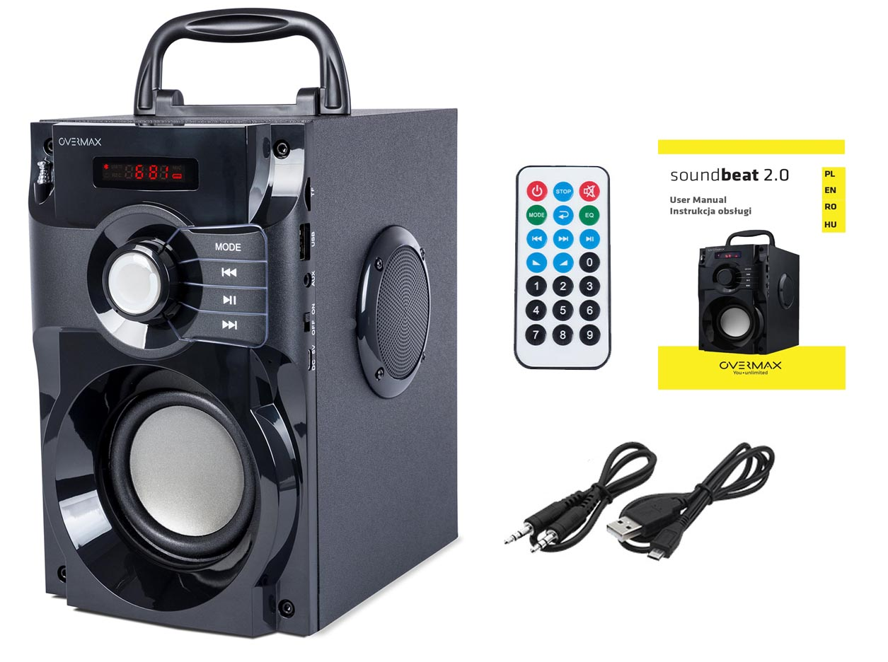 overmax soundbeat 2.0 w zestawie