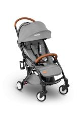 Wózek spacerowy LIONELO JULIE szary + moskitiera + ocieplacz na nóżki + torba do przenoszenia