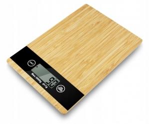 Elektroniczna szklana waga kuchenna LTC do 5kg bambusowa