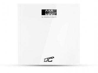 Elektroniczna waga  łazienkowa LTC z termometrem do 180 kg biała