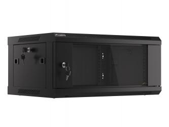 Szafa instalacyjna RACK V2 wisząca 19'' 4U 600x450 drzwi szklane Lanberg  - czarna