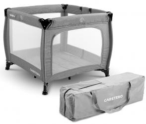 Kojec łóżeczko Caretero QUADRA + torba - szary