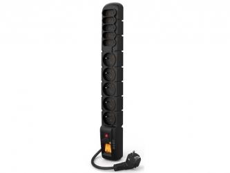 Listwa zasilająca ACAR S10 1.5m 5X 230V PL 5X SCHUKO czarna