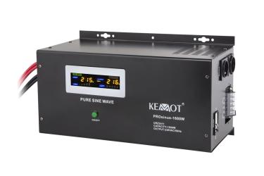 Awaryjne źródło zasilania KEMOT URZ3411 PROsinus-1600W przetwornica z czystym przebiegiem sinusoidalnym i funkcją ładowania 12V / 1600W