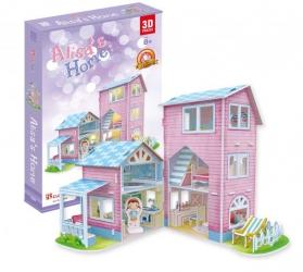 PUZZLE 3D LED Domek dla lalek Alisa's Home zestaw 74 elementów