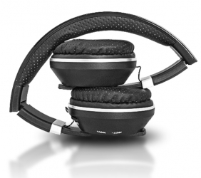 Słuchawki bluetooth LTC MIZZO mikrofon FM SD AUX - czarne