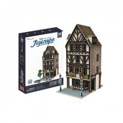 PUZZLE 3D Wielka Brytania Restauracja Tudor zestaw 44 elementy skala 1:87