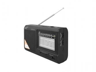 Przenośne radio LTC Wilga z wbudowanym akumulatorem USB SD czarne