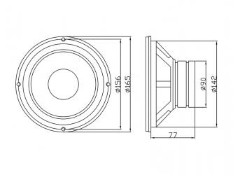Głośnik niskotonowy uniwersalny BLOW GDN16 8Ohm 200W