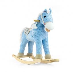Koń na biegunach Milly Mally Pony niebieski interaktywny konik + miś