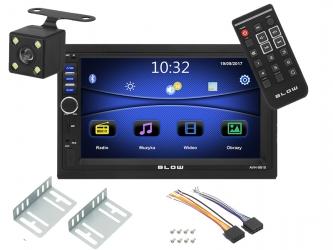 """Radio samochodowe BLOW  AVH-9810 2DIN 7"""" Bluetooth FM SD USB AUX pilot + kamera cofania"""