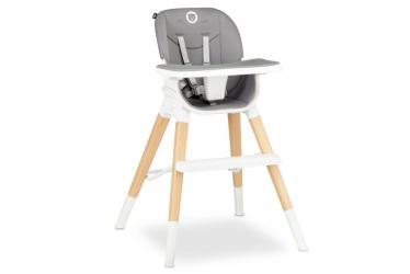 Drewniane krzesło i krzesełko do karmienia 4 w 1 Lionelo Mona - kolor szary