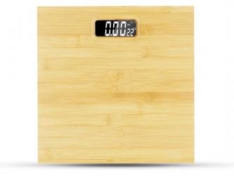 Elektroniczna waga  łazienkowa LTC z termometrem do 180 kg bambusowa