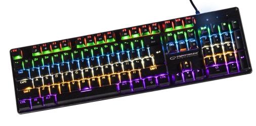 Mechaniczna klawiatura gamingowa Esperanza VORTEX LED RAINBOW