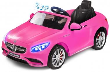 Samochód auto na akumulator Caretero Toyz Mercedes-Benz S63 AMG akumulatorowiec + pilot zdalnego sterowania - różowy