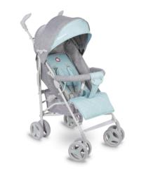 Wózek spacerowy LIONELO IRMA miętowy + moskitiera + ocieplacz na nóżki + folia przeciwdeszczowa
