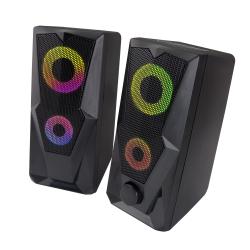 Gamingowe głośniki komputerowe 2.1 Esperanza BAILA USB LED RAINBOW