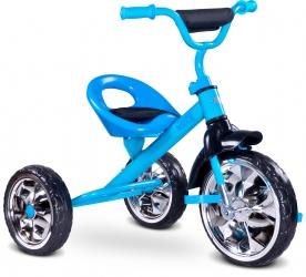 Rowerek trójkołowy dziecięcy Caretero Toyz York z pedałami - niebieski