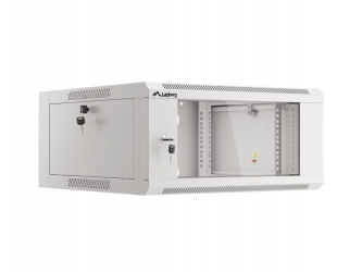 Szafa instalacyjna RACK V2 wisząca 19'' 4U 570x600 drzwi szklane Lanberg  - szara