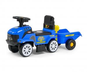 Jeździk Milly Mally niebieski traktor z przyczepką