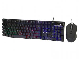 Zestaw klawiatura gamingowa podświetlana + mysz dla graczy BLOW Adrenaline TAMER