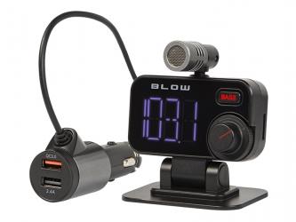 Zestaw głośnomówiący transmiter FM BLOW Bluetooth 5.0 + Quick Charge 3.0