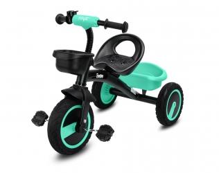 Rowerek trójkołowy dziecięcy Caretero Toyz Embo z pedałami - turkusowy