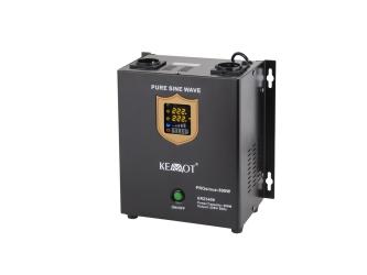 Awaryjne źródło zasilania KEMOT PROsinus-500W przetwornica z czystym przebiegiem sinusoidalnym i funkcją ładowania 12V / 500W