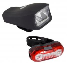 Zestaw lampka rowerowa LED na przód i tył Esperanza CURSA + POLARIS USB