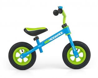 Rowerek biegowy z dzwonkiem Milly Mally Dragon Air zielono-niebieski
