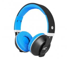 Słuchawki bluetooth LTC MIZZO mikrofon FM SD AUX - niebieskie