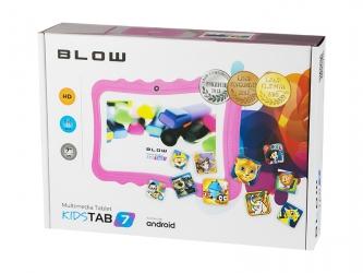 Tablet edukacyjny dla dzieci BLOW KIDSTAB 7 ver. 2020 +gry +zestaw - różowy