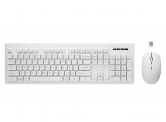 Zestaw bezprzewodowy klawiatura + mysz 2.4GHZ Rebeltec WHITERUN