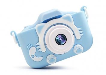 Aparat dla dzieci kamera HD X5 + ochronne etui w Kształcie Zwierzątka - niebieski