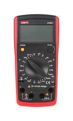 Miernik pojemności i rezystancji UT601 krótkie przewody pomiarowe z krokodylkami holster