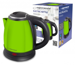Elektryczny czajnik metalowy Esperanza PARANA 1L - zielony
