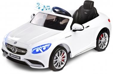 Samochód auto na akumulator Caretero Toyz Mercedes-Benz S63 AMG akumulatorowiec + pilot zdalnego sterowania - biały
