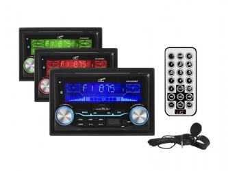 Radio samochodowe LTC AVX2000 Bluetooth 2DIN USB SD MMC MP3 MIC APP + pilot + mikrofon