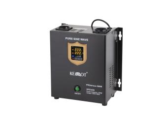 Awaryjne źródło zasilania KEMOT PROsinus-300W przetwornica z czystym przebiegiem sinusoidalnym z funkcją ładowania 12V/300W