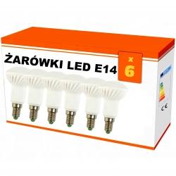 """Zestaw 6x  żarówek """"R50"""" LED ceramiczna E14 6W AC230V, 470 lm!,WW,blist"""