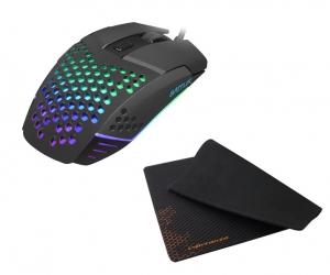 Mysz gamingowa FURY BATTLER 6400DPI podświetlenie lekka + mata