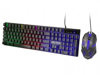 Zestaw klawiatura gamingowa podświetlana + mysz dla graczy BLOW Adrenaline TRIGGER
