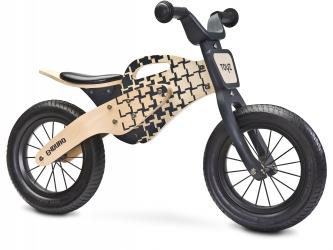 """Rowerek biegowy drewniany Caretero Toyz Enduro pompowane koła 12"""" - naturalnie drewniany"""