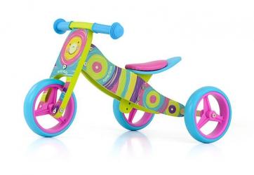 Jeździk rowerek biegowy 2w1 Milly Mally Jake Dolphin