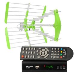 Cyfrowy zestaw DVB-T tuner DVB-T/T2 EV104 + antena kierunkowa Virga DVBT06A