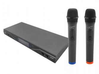 System mikrofonów bezprzewodowych LTC MIC04 UHF 2x mikrofon + stacja