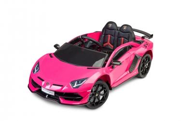 Samochód auto na akumulator Caretero Toyz Lamborghini Aventador SVJ akumulatorowiec + pilot zdalnego sterowania - różowy