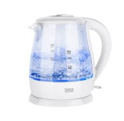 Elektryczny czajnik bezprzewodowy szklany LED Teesa TSA1030 1 L - biały