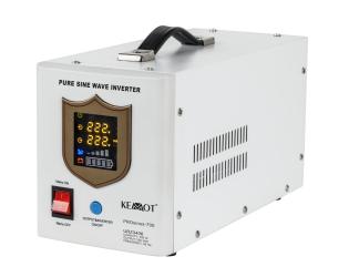 Awaryjne źródło zasilania KEMOT URZ3406 PROsinus-700 przetwornica z czystym przebiegiem sinusoidalnym i funkcją ładowania 12V / 700W biała